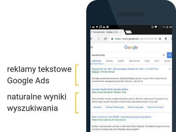 Płatne i bezpłatne wyniki wyszukiwania Google